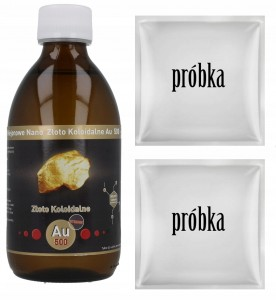 NANO ZŁOTO KOLOIDALNE Au250 50ppm STRONG 300ml