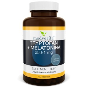 MEDVERITA Tryptofan 250mg + Melatonina 1mg 100kaps